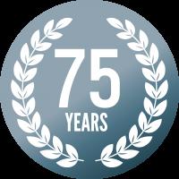 75 years crest